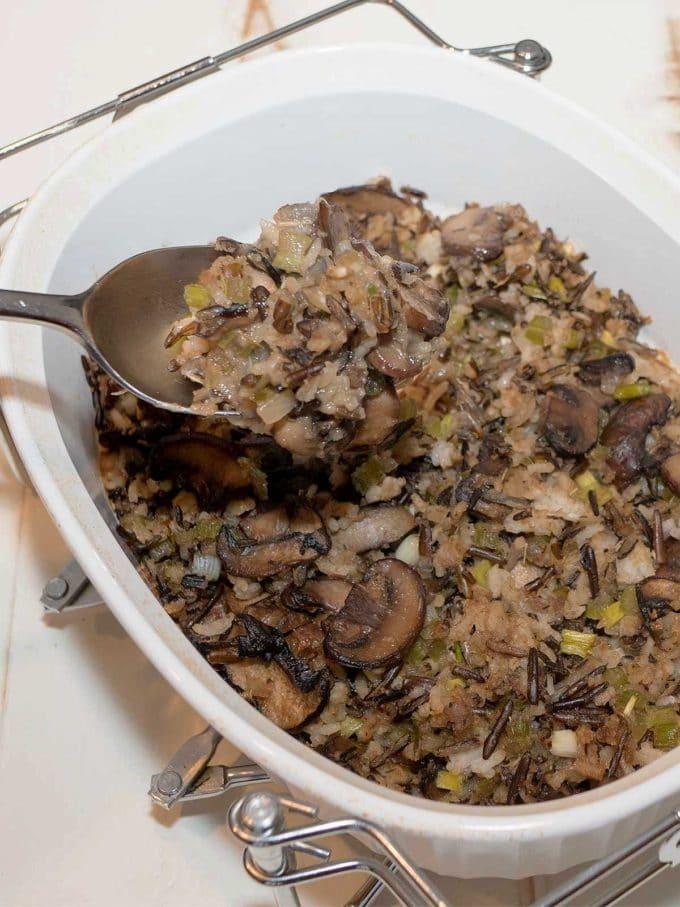 Mushroom Wild Rice Stuffing