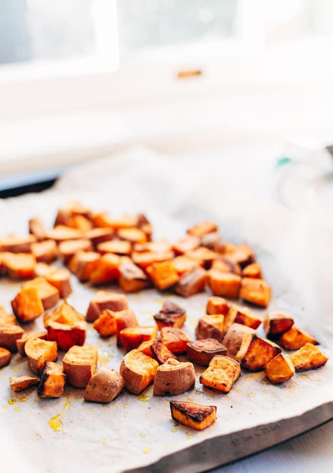 Coconut Oil Sweet Potatoes