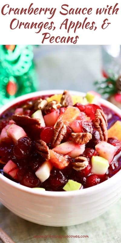 Cranberry Sauce with Orange and Apple