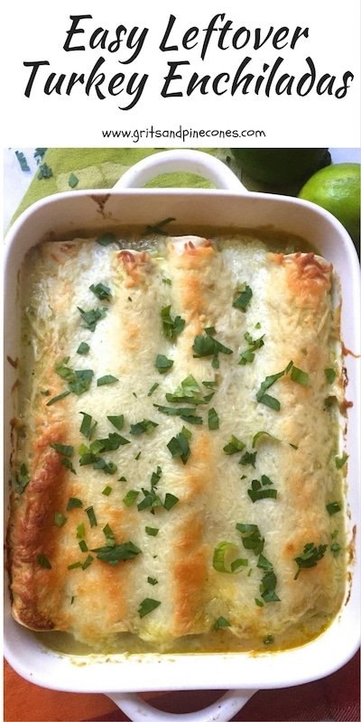 Are you wondering what to do with all of your Thanksgiving leftovers? Why not try this easy leftover turkey enchiladas recipe and enjoy the after holiday entree?