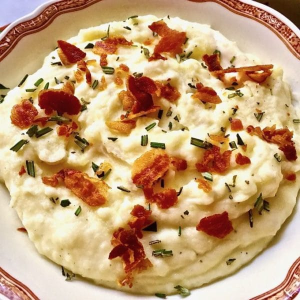 Pancetta and Rosemary Mashed Potatoes ready to serve