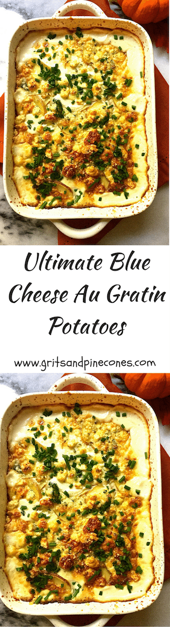 Ultimate Blue Cheese Au Gratin Potatoes are a delicious and easy to make side dish for any meal when you want to wow your family & friends!