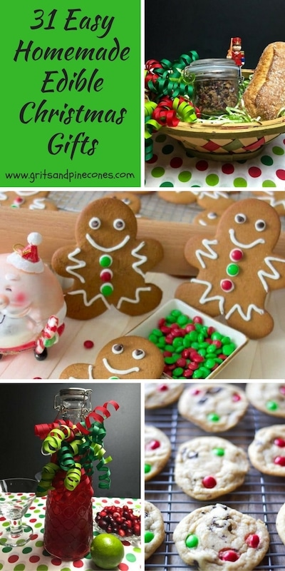 Don't stress about buying gifts! Make your friends' holidays even sweeter this year by making some of these 31 easy homemade edible Christmas gifts!