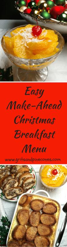 Christmas Breakfast Menu