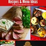 Pinterest pin with Christmas dinner ideas.