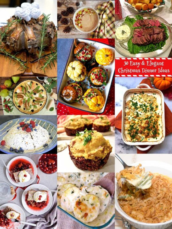 Collage Christmas Dinner Ideas
