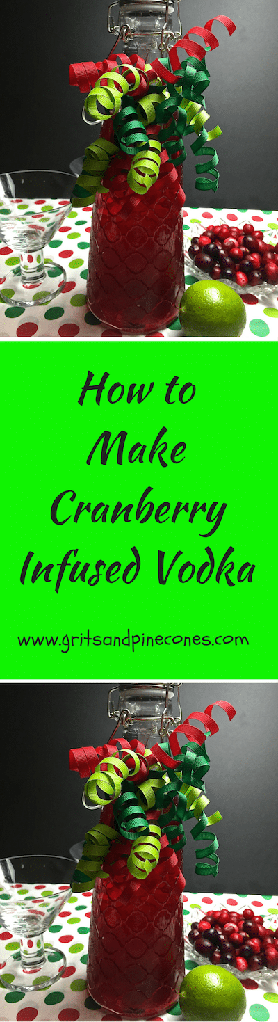 Looking for the perfect Christmas gift to wow those special people in your life? How about an easy recipe for Cranberry Infused Vodka?