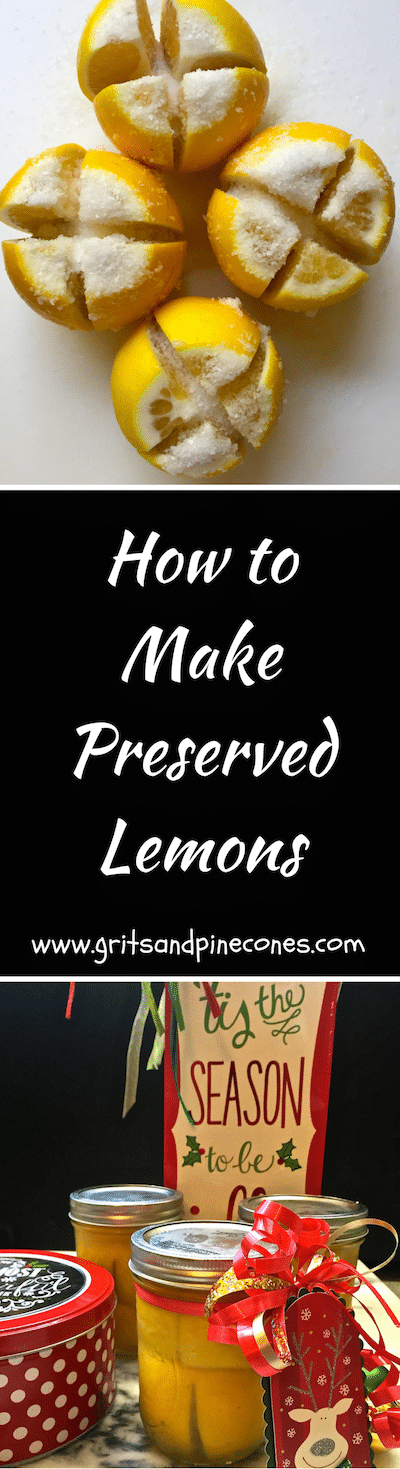 Preserved Lemons make a terrific and thoughtful holiday gift for your foodie friends!  And, you won't believe how easy they are to make!