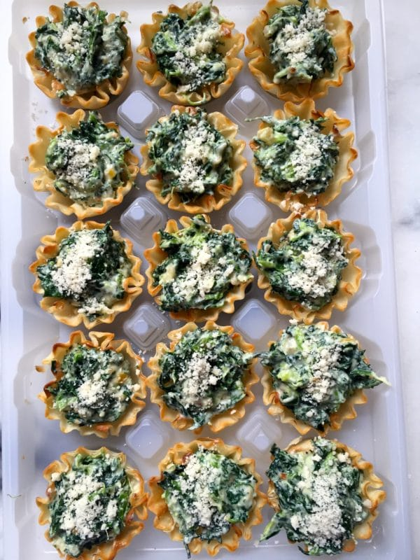 Spinach and Goat Cheese Tartlets ready to bake or freeze