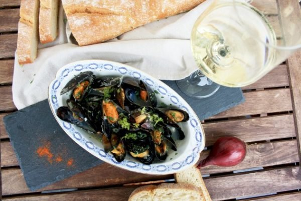 Mussels in Wine Sauce