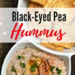Black Eyed Pea Hummus Pinterest pin