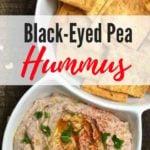 Black Eyed Pea Hummus Pinterest pin
