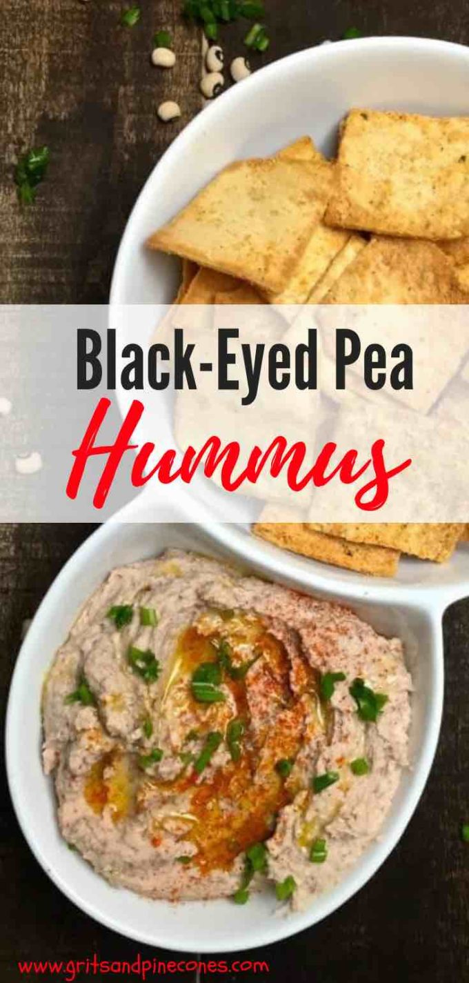 Hummus is not from the South, but using black-eyed peas instead of chickpeas transforms it into a dish any Southerner would be proud to serve! This easy and healthy homemade Black-Eyed Pea Hummus recipe is simple and delicious and a