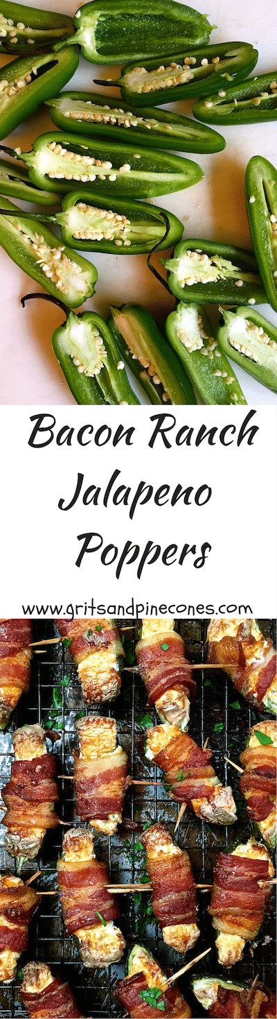 These Baked Bacon Ranch Jalapeño Poppers are one of the easiest and jalapeño snacks to prepare and perfect Super Bowl or game day food.