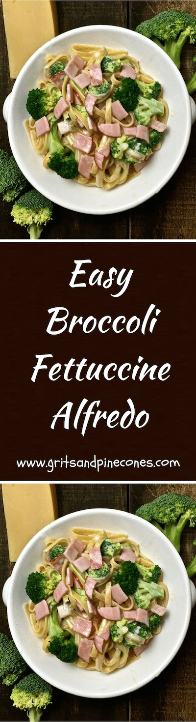 Easy Broccoli Fettuccine Alfredo is the ultimate comfort food and making delicious homemade Alfredo sauce is a snap with this easy recipe!