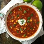 Crockpot Chicken Tortilla Soup 4