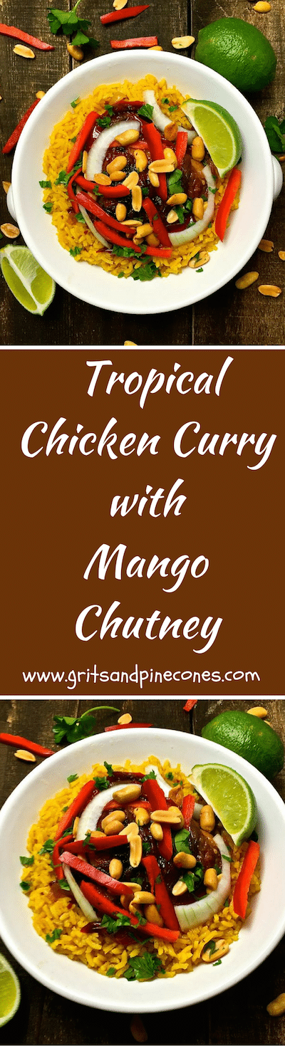 Want to shake things up with an easy meal for dinner this week? How about delicious Tropical Chicken Curry smothered with mango chutney?