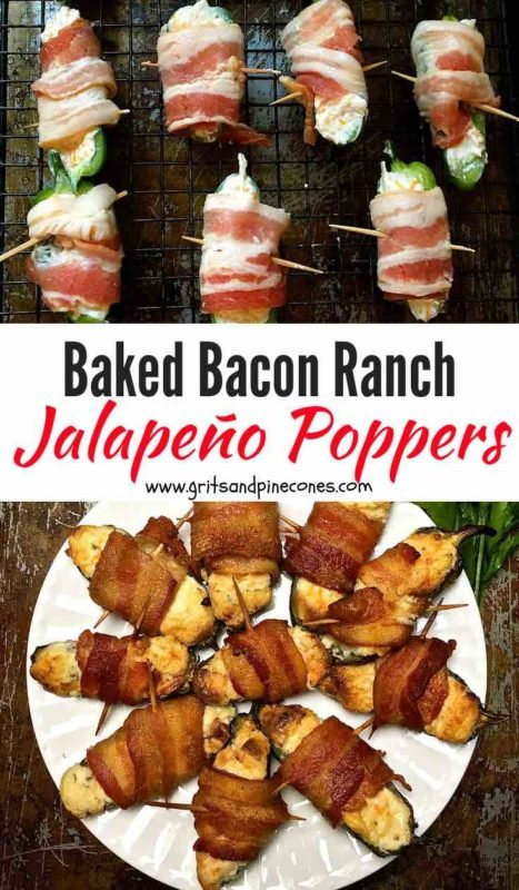 Baked Bacon Ranch Jalapeno Poppers Pinterest pin