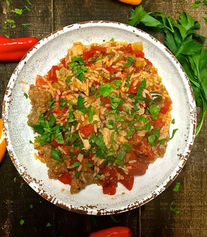 Easy Chicken and Sausage Jambalaya-5