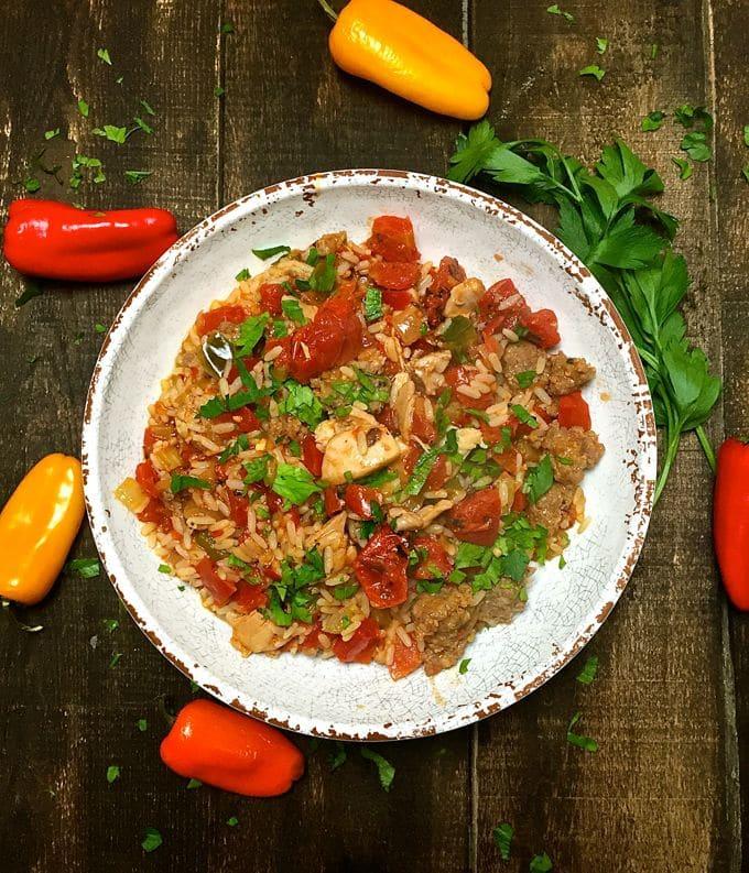 Easy Chicken and Sausage Jambalaya-8
