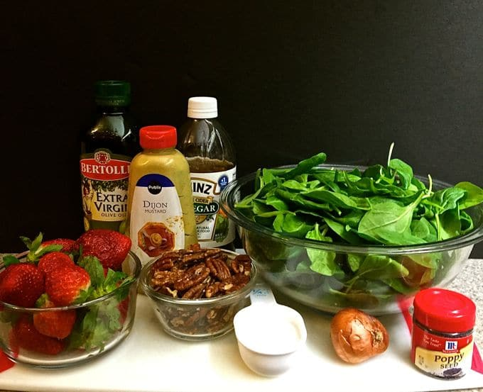 Spinach Salad with Strawberries and Pecans 1