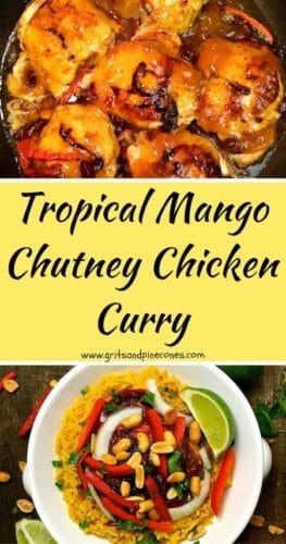 Tropical Mango Chutney Chicken Curry