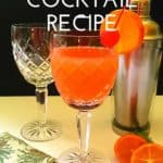 Pinterest pin showing a hurricane cocktail.