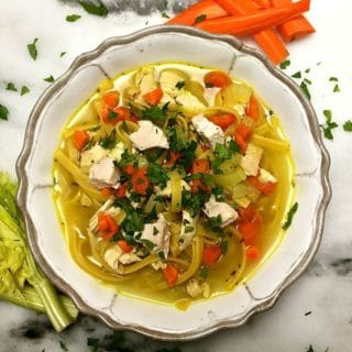Roasted Chicken Noodle Soup-5