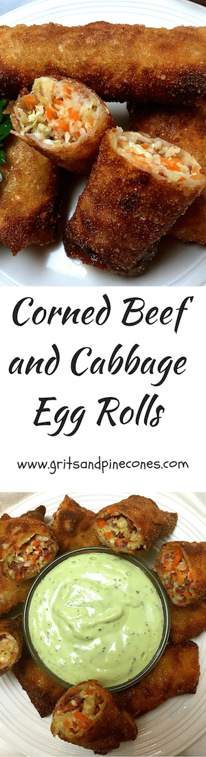 Just In Time For St Patrick S Day Corned Beef And Cabbage Egg Rolls With