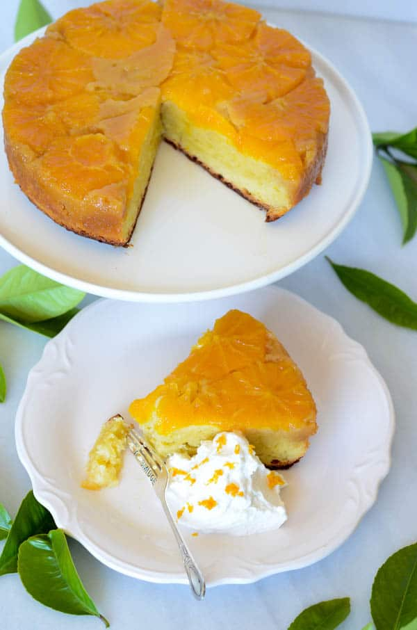 29. Honey-Orange Upside Down Cake with Honey-Bourbon Whipped Cream via ...