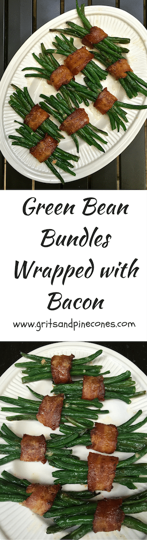Delicious Green Bean Bundles Wrapped in Bacon will lend an elegant touch to your Easter dinner table. These divine little packages of tender green beans, wrapped in smoky bacon with a touch of brown sugar, are sure to be a favorite of your family and friends.