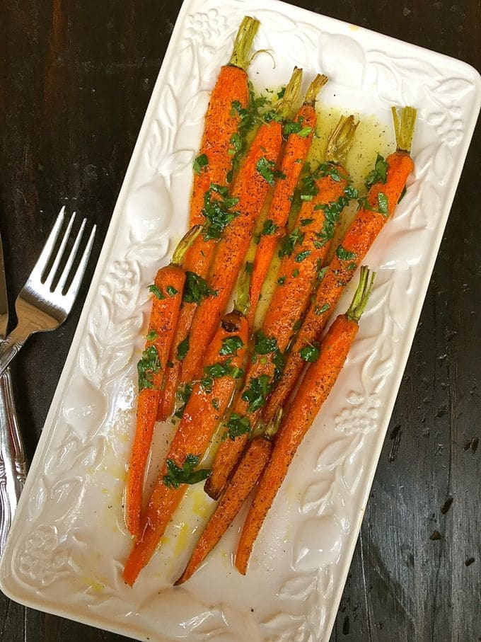 Roasted Carrots with Lemon Vinaigrette-3