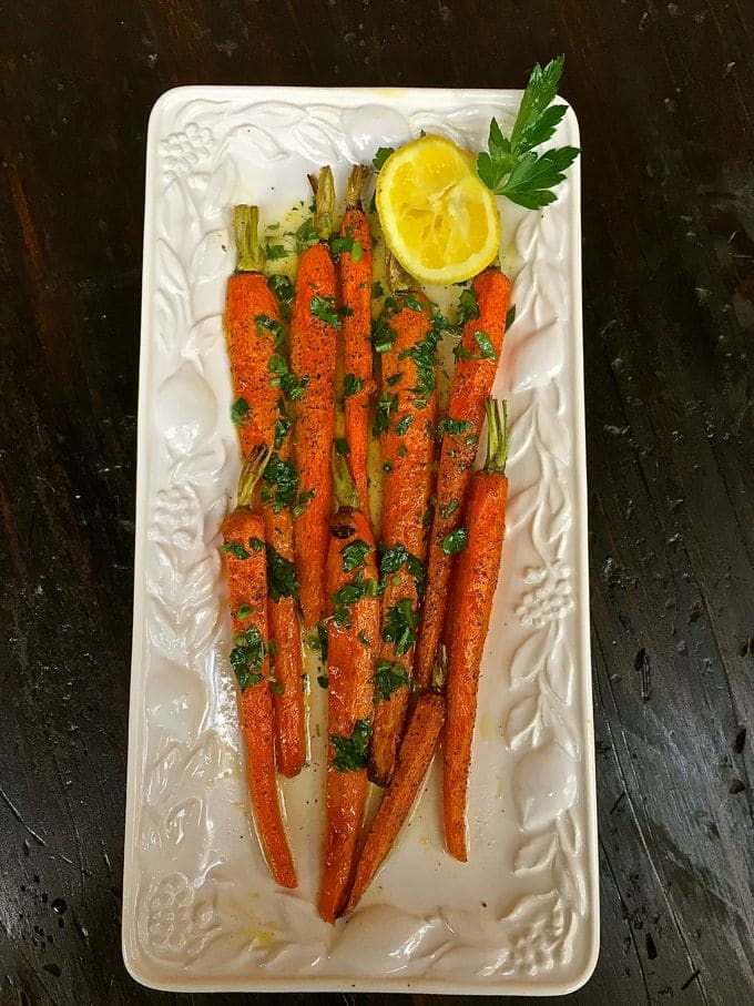 Roasted Carrots with Lemon Vinaigrette-4