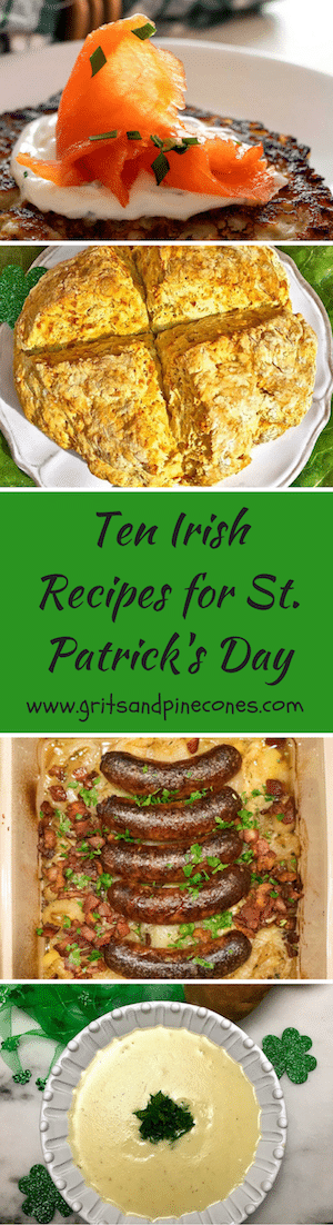 Ditch the green beer this year and try these ten quick, easy, and delicious Irish-inspired recipes and food ideas for dinner or a party. This roundup includes authentic and traditional dishes like Irish Soda Bread, Colcannon, Boxty and Dublin Coddle. After tasting these amazing dishes, you will wish it was St Patrick's Day all year long!  #stpatricksdayfoodideas, #stpatricksdayrecipes, #stpatricksday