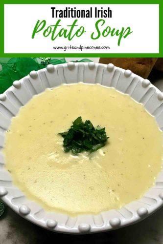 Traditional Irish Potato Soup Pinterest Pin