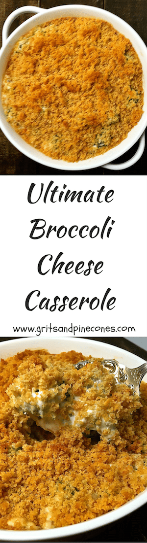 Ultimate Broccoli Cheese Casserole pairs well with just about any entrée and this delicious, iconic Southern dish is the perfect side for your holiday dinner.