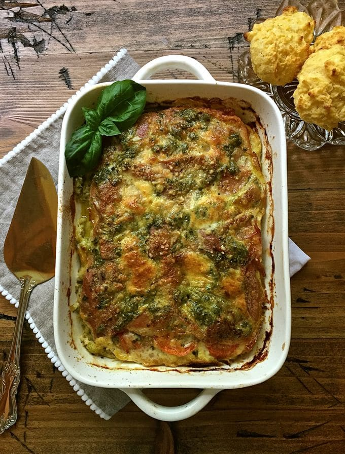 Cheese Proscuitto Breakfast Casserole-7