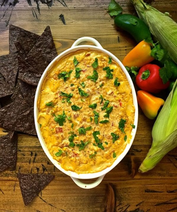 Easy Cheesy Hot Corn Dip for Game Day
