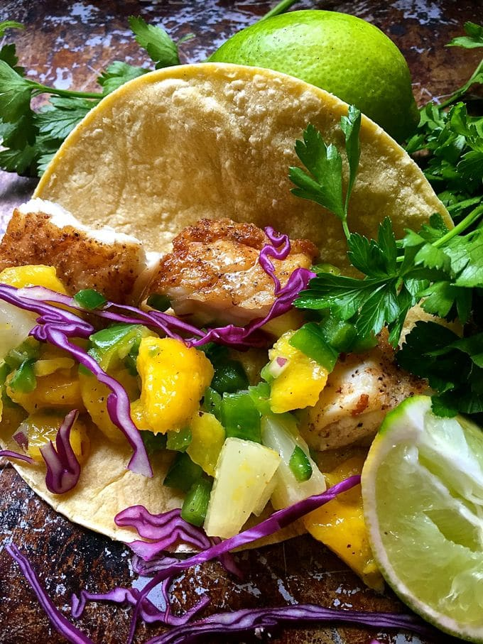Fish Tacos with Mango Salsa-3