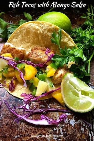 Fish Tacos with Mango Salsa