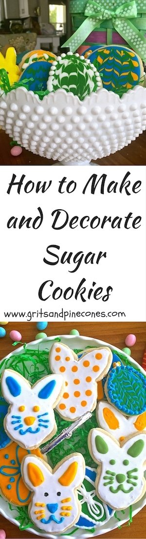 How to Make and Decorate Sugar Cookies includes easy step by step instructions on how to make and decorate delicious Easter Sugar Cookies with royal icing.