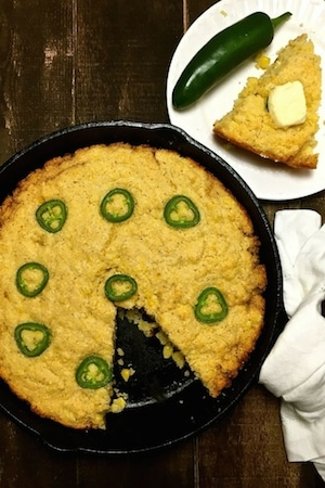 Cinco de Mayo is right around the corner and this delicious Mexican Jalapeño Cornbread with corn kernels and sliced jalapeños is perfect.