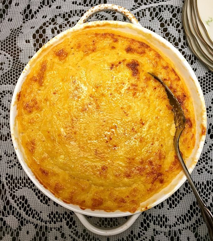 Southern Cheese Grits Casserole | Grits and Pinecones