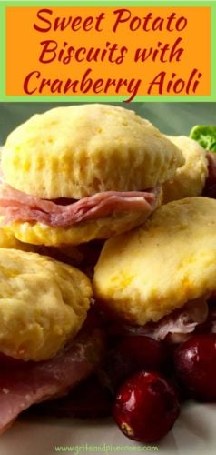 Sweet Potato Biscuits with Cranberry Aioli Pinterest Pin