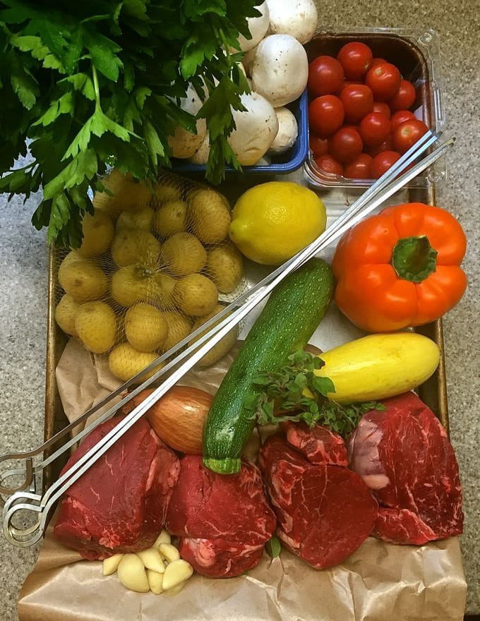 Steak Shish Kabobs with Chimichurri Sauce Ingredients