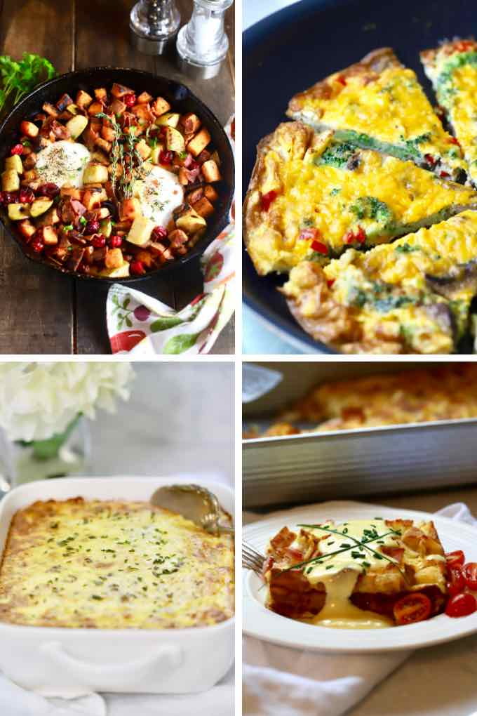 A collage of Mother's Day recipe images.
