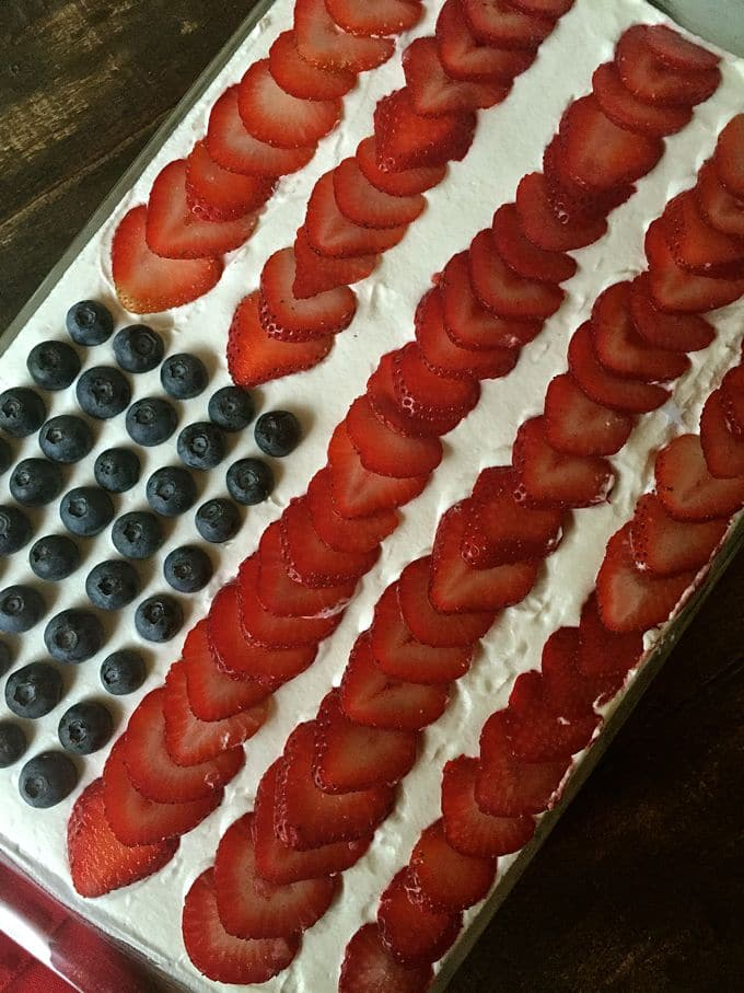 Patriotic Red White and Blue No-Bake Icebox Cake