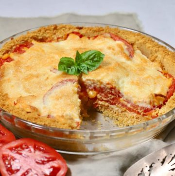Easy Classic Southern Tomato Pie ready to serve