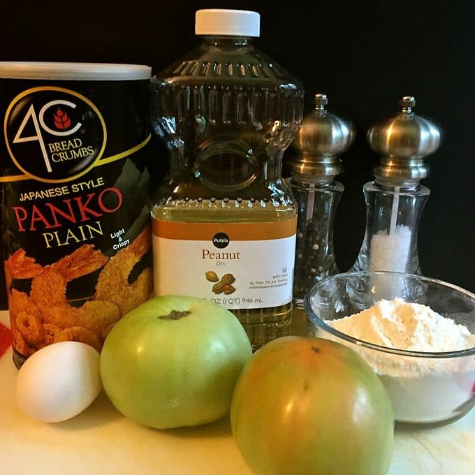 Easy Southern Fried Green Tomatoes ingredients