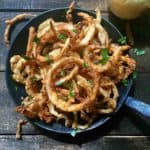 A dish full of Southern Style Crispy Onion Rings